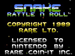 Snake Rattle'n'Roll: Startbildschirm