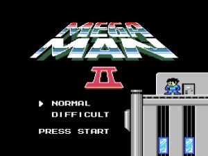 Mega Man 2: Startbildschirm