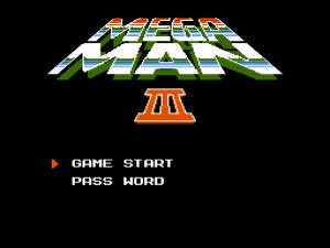 Mega Man 3: Titelbildschirm