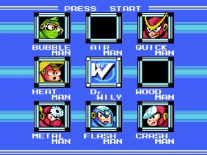 Mega Man 2: Gegnerauswahl