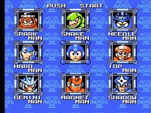 Mega Man 3: Gegnerauswahl