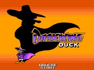 Darkwing Duck - Startbildschirm
