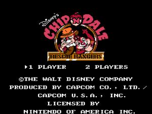 Chip und Chap: Startbildschirm