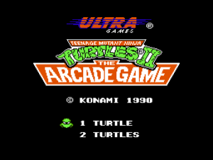 Turtles II - Startbildschirm