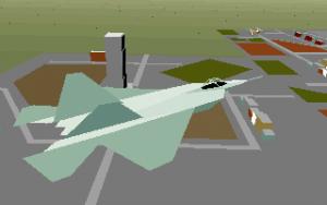 Sicht aus der F-22